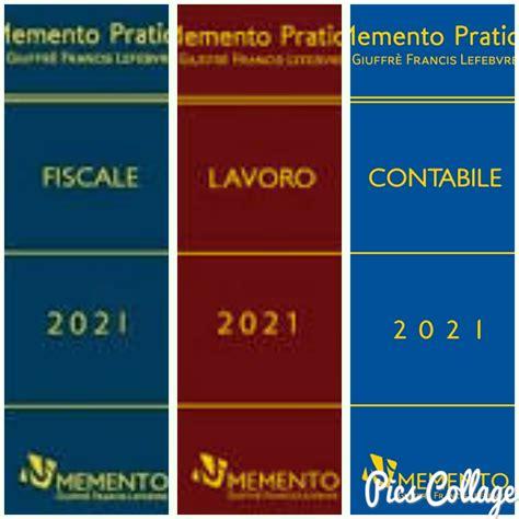 offerta memento fiscale 2021 memento lavoro 2021