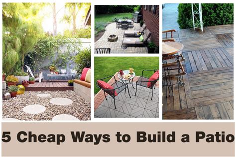 how to build a patio outdoor patio furniture covers 5 cheap ways to transform your patio