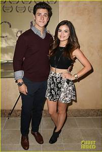 Full Sized Photo of lucy hale supports ex david henrie at ...