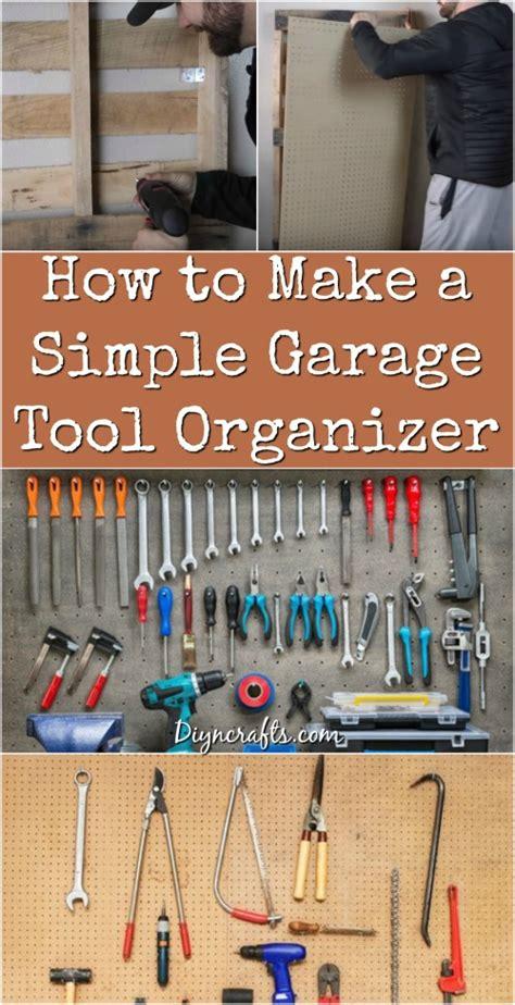 simple garage tool organizer diy crafts