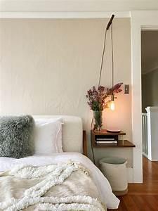 the small nightstand hack that requires zero floor space