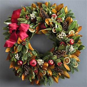 Holiday Magnolia Wreath
