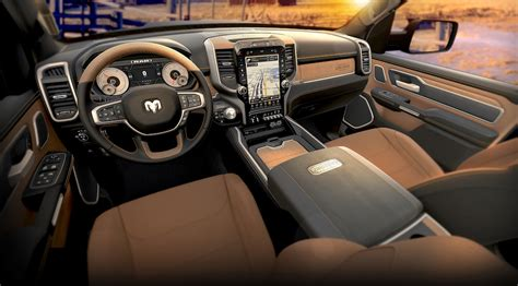 ram  laramie longhorn blackcattle tan interior