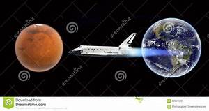 Space Shuttle Flight To Mars - Elements Of This Image ...