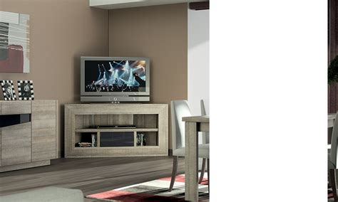 meuble tv d angle bas contemporain texas coloris ch 234 ne