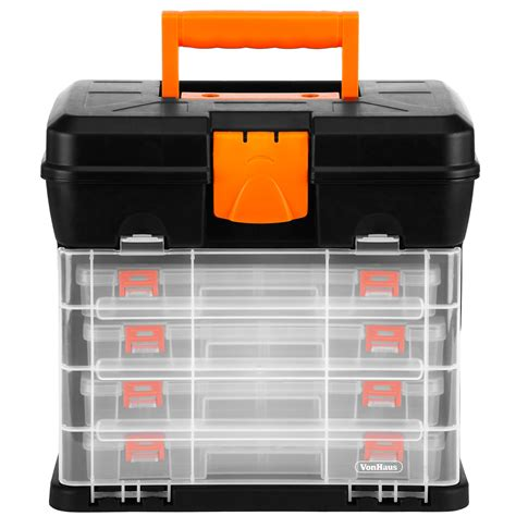 9 pull out organizer vonhaus utility diy storage tool box carry case 4