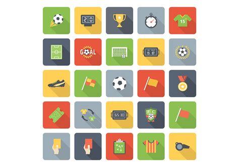 flat soccer vector icons   vector art