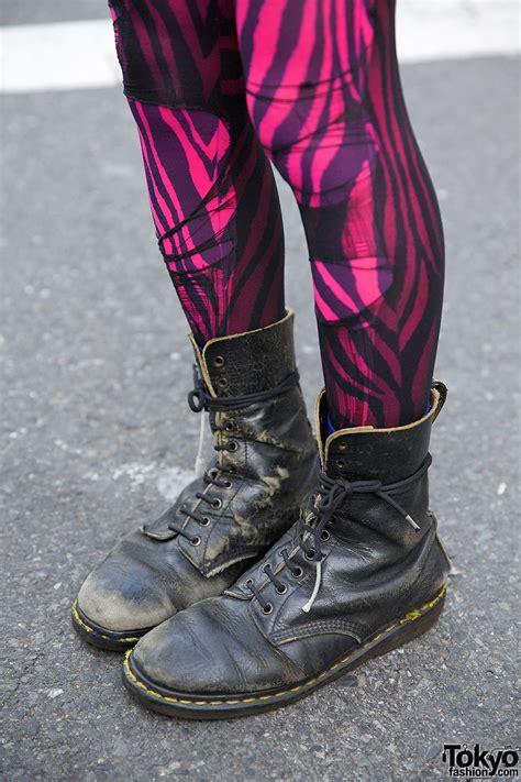 harajuku punks  crosshawk mohawk studded leather boots