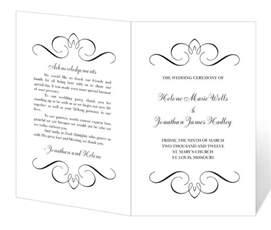 wedding program templates fans wedding program template printable instant