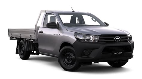 hilux 4x2 workmate single cab cab chassis black toyota