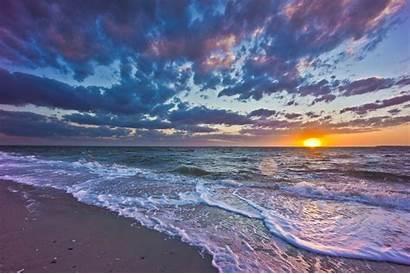 Sea Sunset Landscape Waves Wallpapers Coast Backgrounds