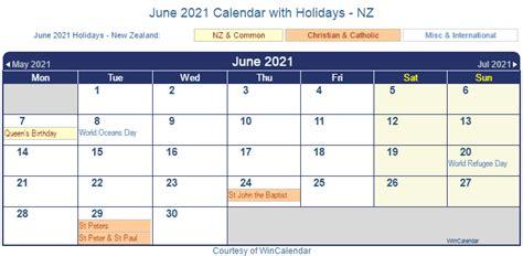 print friendly june   zealand calendar  printing