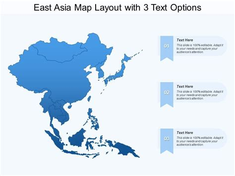 east asia map layout   text options powerpoint
