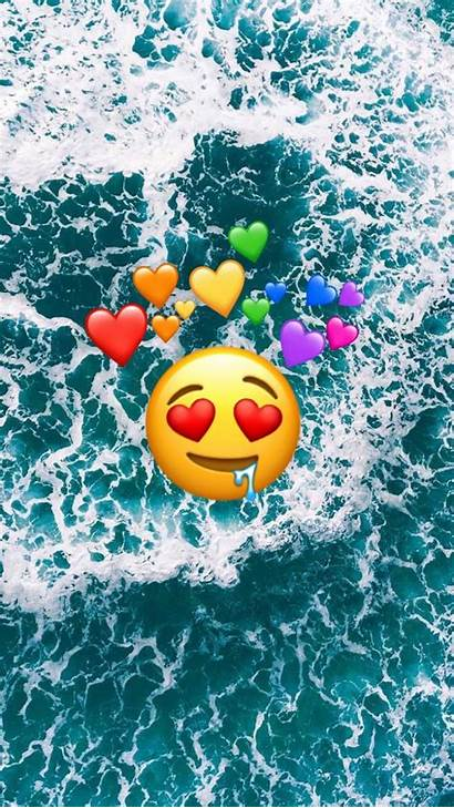 Emoji Iphone Wallpapers Ocean Background Backgrounds Dis