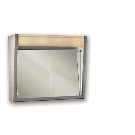 mirrored medicine cabinet shop broan ensign 24 in x 23 5 in rectangle surface
