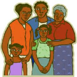 African American Cartoon Family