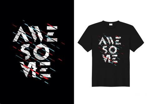 Kaos One Graphic 5 awesome typography t shirt design vector vector premium