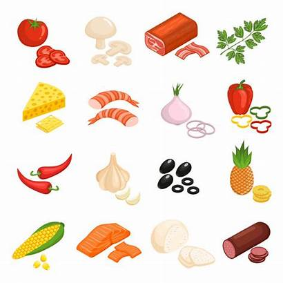 Pizza Ingredients Ingredientes Clipart Icons Dibujo Icone