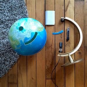 Globe Terrestre Carton : diy recycler un globe terrestre en urne de mariage rock and paper ~ Teatrodelosmanantiales.com Idées de Décoration