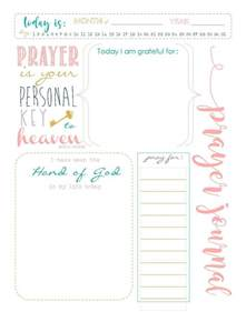 Free Printable Prayer Journal Pages Templates