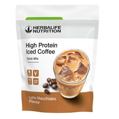 Herbalife nutrition just release a new high protein iced coffee drink mix which it claims is a low sugar alternative to high sugar coffeehouse iced coffees on october 15th 2018. Tri Blend Select - Protein shake mix Coffee caramel 600 g