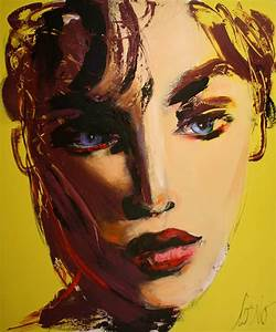 Beautiful face on yellow - Galerie Perreault