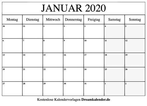 druckbarer kalender fuer januar