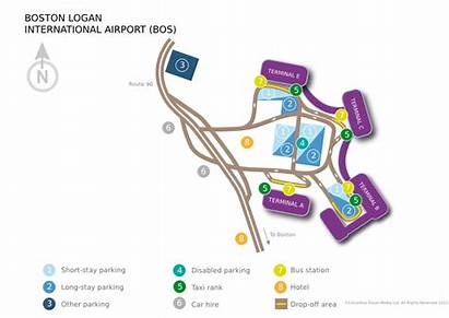 Logan Airport Boston International Bos Diagram Map