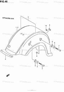 Suzuki Motorcycle 2004 Oem Parts Diagram For Rear Fender  Model K1