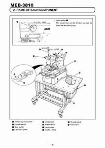 Meb-3810 Series Juki Instruction Manual