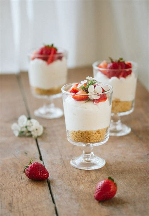 desserts served in glasses recipes individual no bake cheesecake pretty simple sweet