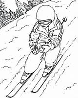 Ski Skiing Coloring Pages Draw Colouring Drawing Jet Lift Doo Sheet Sky Sketch Getdrawings Printable Template Getcolorings sketch template