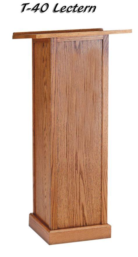full pedestal lectern  imperial woodworks