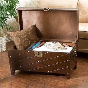 southern enterprises espresso nailhead cocktail table With cocktail trunk coffee table