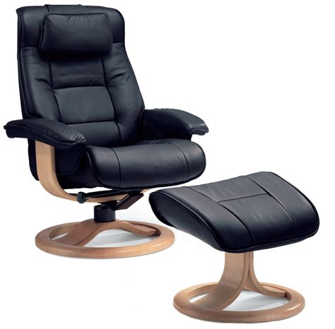 leather lounge chair with ottoman fjords mustang ergonomic leather recliner chair ottoman