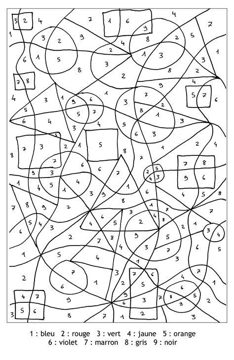 magique chiffres formes coloriage magique coloriages