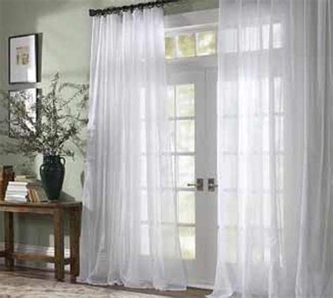 sheer curtain option for sliding glass door