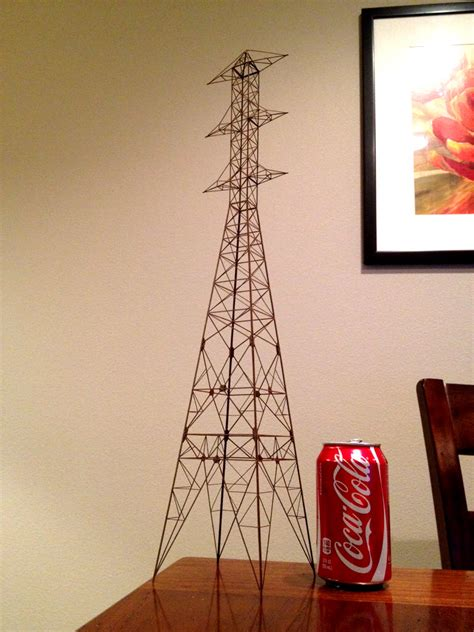 scale model power  transimission tower darkly labs