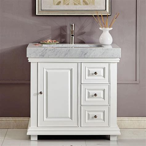 "36"" Modern Single Bathroom Vanity White"