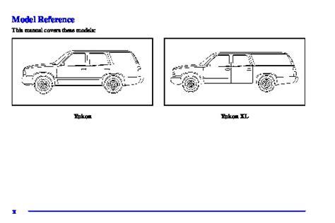 car repair manuals online pdf 1992 gmc yukon parking system 2001 gmc yukon xl owners manual