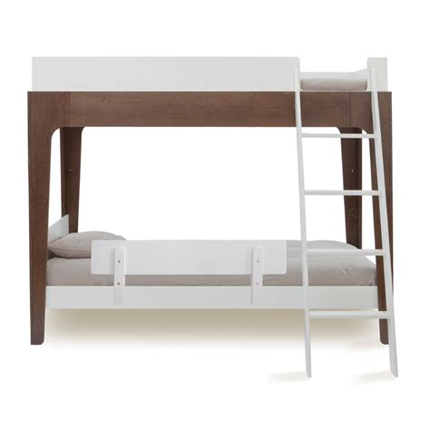 perch twin bunk bed in white walnut by oeuf