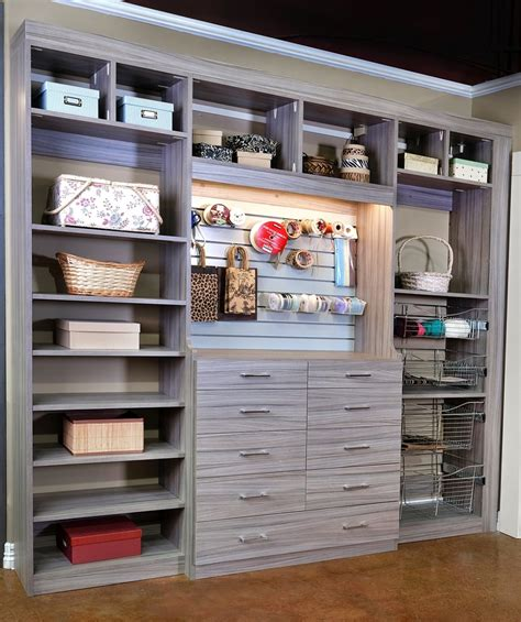 Closet Organization Ideas For Crafts by Closets To Go Reach In Craft Closet Organizer Laundry And