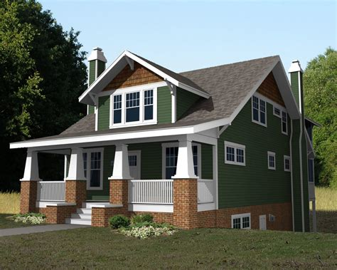 Craftsman Style House Plan  4 Beds 3 Baths 2680 Sqft