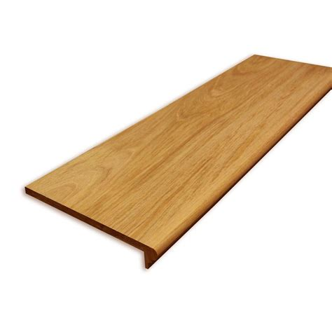 home depot wood stairs stairtek 0 625 in x 11 5 in x 48 in prefinished natural brazilian cherry retread left return