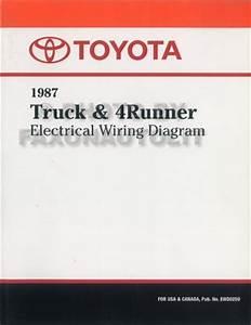 1987 Toyota Truck  U0026 4runner Wiring Diagram Manual Factory Reprint