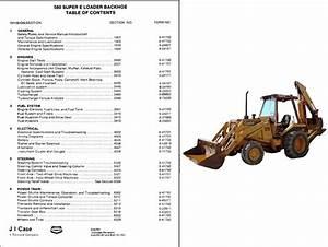 Case 580 Super E Loader Backhoe Tractor Service Repair