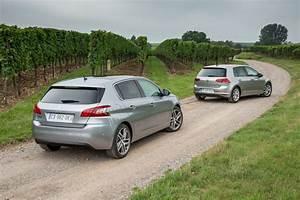Nouvelle 308 Occasion : nouvelle peugeot 308 vs volkswagen golf vii le match diesel 150 ch l 39 argus ~ Gottalentnigeria.com Avis de Voitures