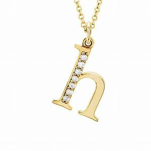 buy the kelly 14k gold diamond lower case letter 39h With letter h gold necklace