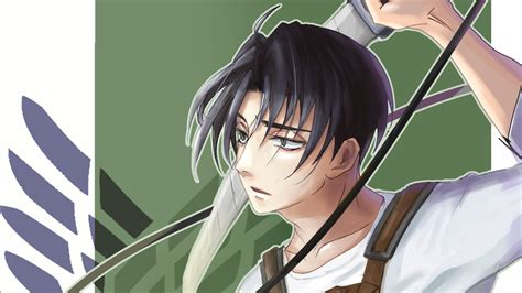 Download hd attack on titan wallpapers best collection. Attack On Titan Levi Ackerman With Sword With Green Background HD Anime Wallpapers   HD ...