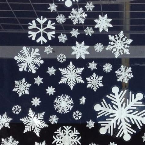 snowflake decals jumbo pack large pack of winter clings